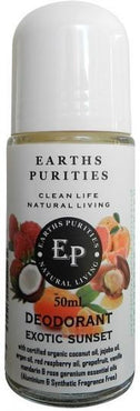 Earths Purities Ladies Natural Exotic Sunset Liquid Roll On Deodorant 50ml-Health Tree Australia
