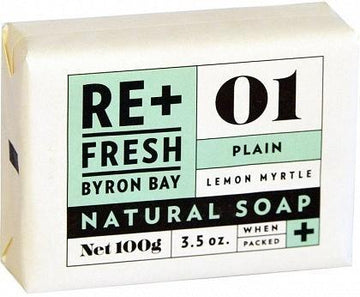 ReFresh Byron Bay Lemon Myrtle Soap Plain 100g