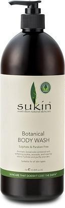 Sukin Botanical Body Wash pump 1 Litre-Health Tree Australia