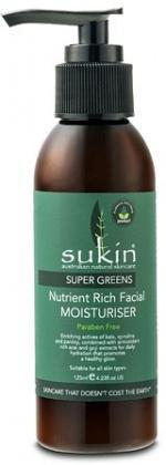 Sukin Super Greens Nutrient Rich Facial Moisturiser 125ml Pump-Health Tree Australia