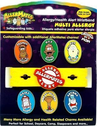 AllerMates Multi Charm Wristband Set Including 6 Common Charms - Health Tree Australia