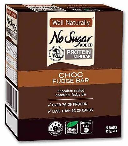 Well,naturally Hi Pro MiniBars Double Choc25gx5Bar-Health Tree Australia