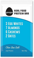 Googys Natural Protein Bar Choc Sea Salt G/F 12x55g