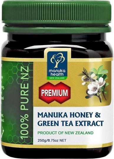 Manuka Health Premium Manuka Honey & Green Tea Extract 250g-Health Tree Australia