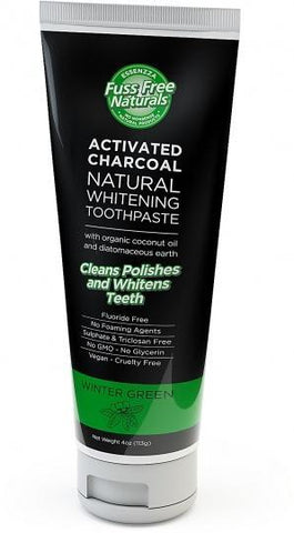 Essenzza Fuss Free Naturals Activated Charcoal Natural Whitening Toothpaste Winter Green 113g