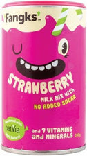 Fangks Strawberry Milk Mix No Added Sugar 200g OCT17
