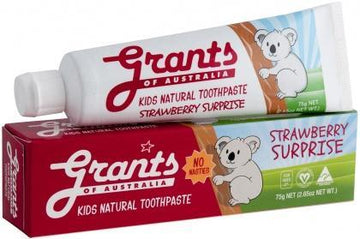Grants Kids Natural Toothpaste Strawberry Surprise 75g New