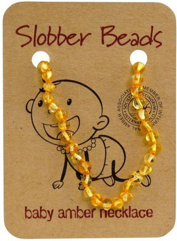 Slobber Beads Baby Lemon Round Necklace-Health Tree Australia