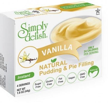 Simply Delish Vanilla Natural Pudding & Pie Filling G/F 44g