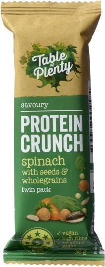 Table of Plenty Protein Crunch Spinach with Seeds & Wholegrains 12x36g AUG18