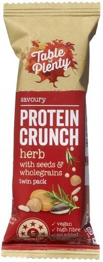 Table of Plenty Protein Crunch Herb with Seeds and Wholegrains 12x36g AUG18