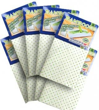 Bambooee Reusable Bamboo Sweeps with Scrubbing Dots 8 Pack