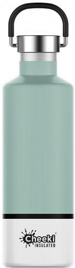 Cheeki Classic Stainless Steel Insulated Pistachio White Bottle 600ml