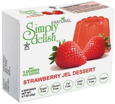 Simply Delish Strawberry Jel Dessert G/F 20g