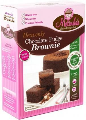 Melindas Choc Fudge Brownie G/F Pre-Mix 415gm-Health Tree Australia