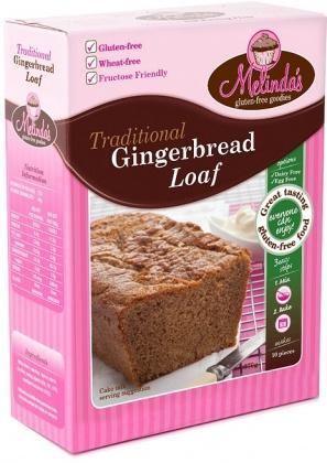 Melindas Gingerbread Loaf G/F Pre-Mix 380g-Health Tree Australia