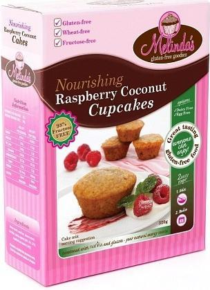 Melindas Raspberry Coconut Cupcakes G/F Fructose Free Pre-Mix 320g