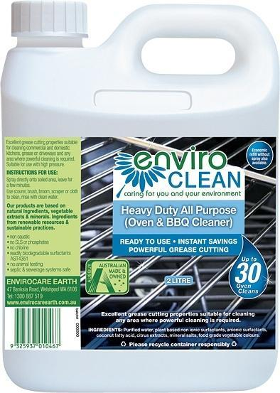 Enviro Care Heavy Duty Cleaner (Oven & BBQ) 2L New