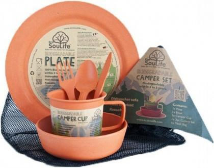 EcoSouLife Bamboo Camper Set Main Plate Orange-Health Tree Australia