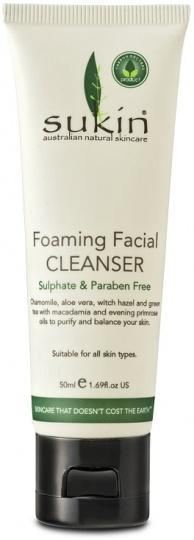 Sukin Foaming Facial Cleanser 50ml Travel Size