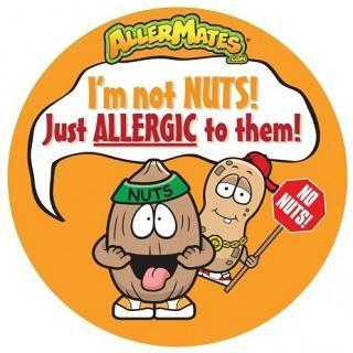 AllerMates Im Not Nuts Just Allergic To Them Stickers - 24 Pack - Health Tree Australia