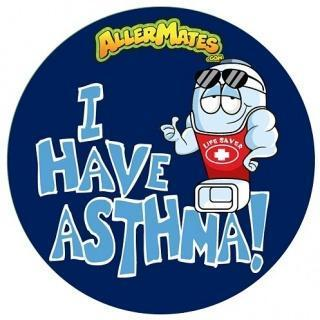 AllerMates I Have Asthma Stickers - 24 Pack - Health Tree Australia