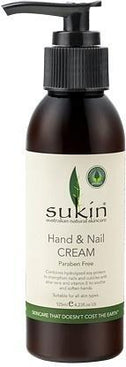 Sukin Hand & Nail Cream Pump 125ml-Health Tree Australia