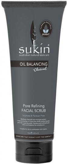 Sukin Oil Balancing Plus Charcoal Pore Refining Facial Scrub 125ml-Health Tree Australia