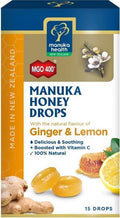 Manuka Health MGO 400+ Manuka Honey Lemon & Ginger Lozenges 15s