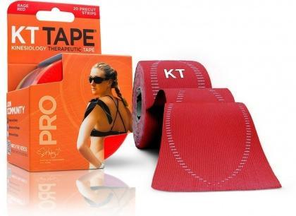 "KT Tape Pro 20 Precut 10"" Strips Rage Red-Health Tree Australia"