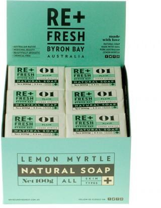 ReFresh Byron Bay Lemon Myrtle Soap Plain 100gx24 CDU