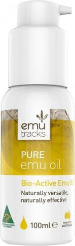 Emu Tracks Pure Emu Oil 100ml-Health Tree Australia