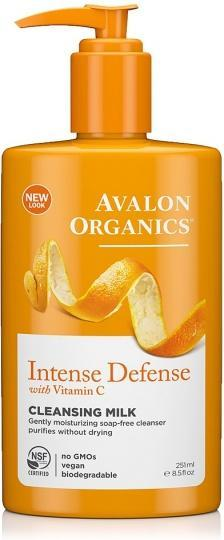 Avalon Organics Intense Defense with Vitamin C Cleansing Milk 250ml
