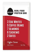 Googys Natural Protein Bar Coffee Cocoa G/F 12x55g