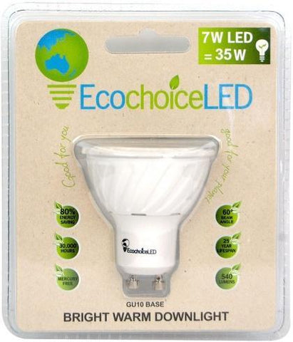 EcochoiceLED 7W Bright Warm Downlight GU10 Base-Health Tree Australia