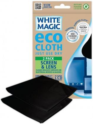 White Magic Eco Cloth Screen & Lens 2Pk - 30x30cm-Health Tree Australia