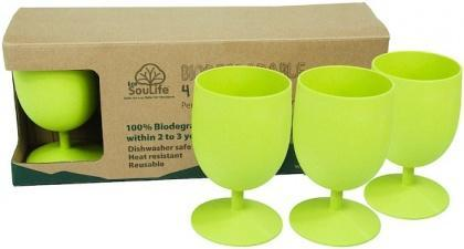 EcoSouLife Bamboo Eco Goblet Pack Lime 4Pc-Health Tree Australia