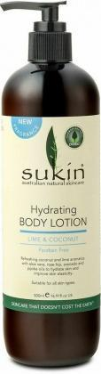 Sukin Hydrating Body Lotion Lime & Coconut 500ml Pump