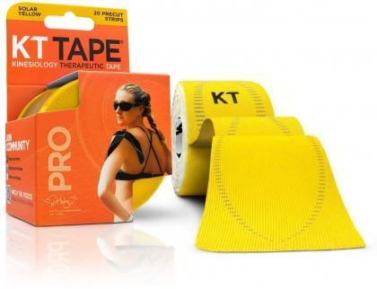 "KT Tape Pro 20 Precut 10"" Strips Solar Yellow-Health Tree Australia"