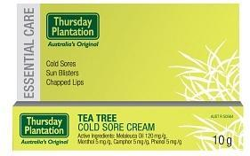 TP Tea Tree Cold Sore Cream 10gm-Health Tree Australia
