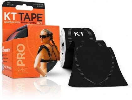 "KT Tape Pro 20 Precut 10"" Strips Jet Black-Health Tree Australia"