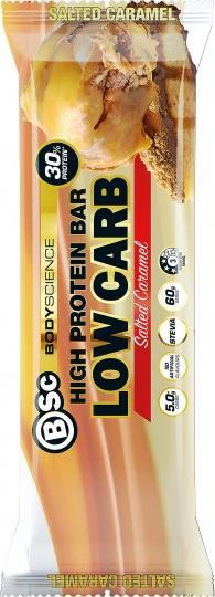 BSc High Protein Low Carb Bar Salted Caramel 8x60g
