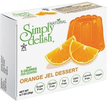 Simply Delish Orange Jel Dessert G/F 20g