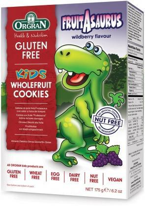 Orgran Kids Dinosaur Wholefruit Cookies 175g-Health Tree Australia