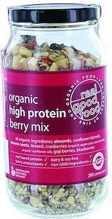 Real Good Foods Org BerryHigh Protein Mix Jar 280g-Health Tree Australia