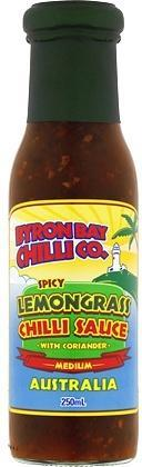 Byron Bay Chilli Spicy Lemongrass Chilli Sauce with Coriander 250ml-Health Tree Australia