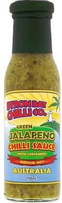 Byron Bay Chilli Green Jalapeno Sauce 250ml-Health Tree Australia