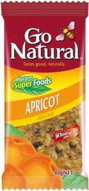 Go Natural Organic Apricot Meal Bar 12x80gm-Health Tree Australia