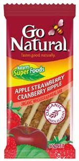 Go Natural Apple Strawberry Cranberry Ripple Meal Bar 12x80g-Health Tree Australia