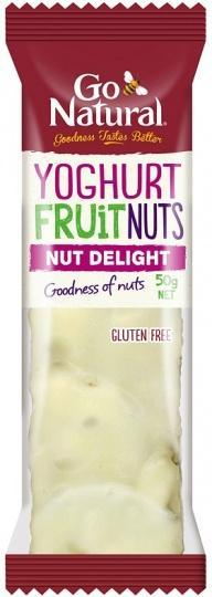 Go Natural Yoghurt Fruit & Nut Delight Bars 16x50g-Health Tree Australia